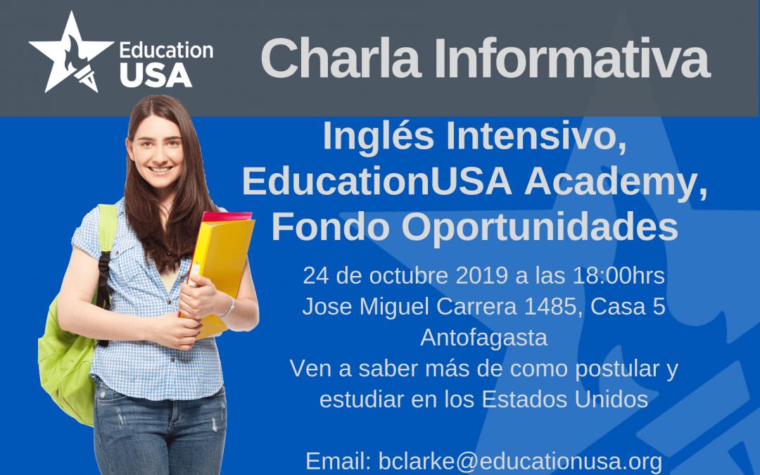Antofagasta: Inglés Intensivo, EducationUSA Academy, Fondo Oportunidades